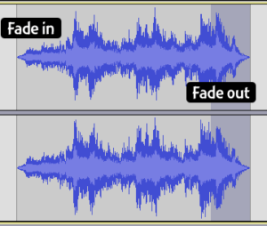 Audacity: Fade Examples