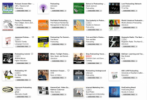 Podcasting in iTunes