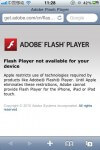 No Adobe Flash on iPhone