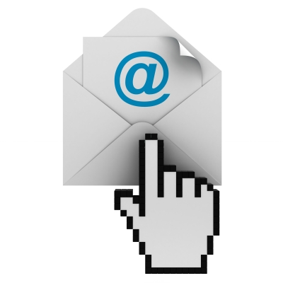 Cursor clicking on email