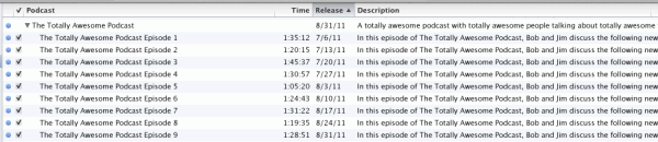 The Totally Awesome Podcast episodes in iTunes