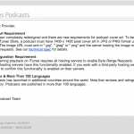 Apple's email reminds podcasters of iTunes podcasting requirements