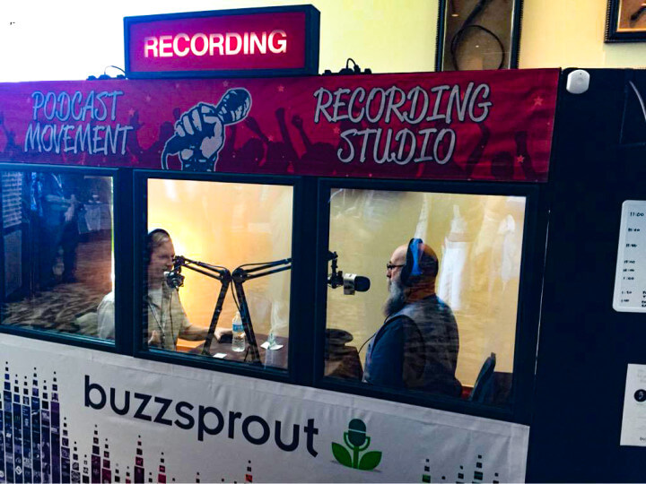 The Audacity to Podcast in Buzzsprout's studio at Podcast Movement 2015-enhanced