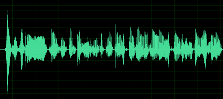 Waveform with a momentary loud spot at the beginning, but consistent volume in the rest.